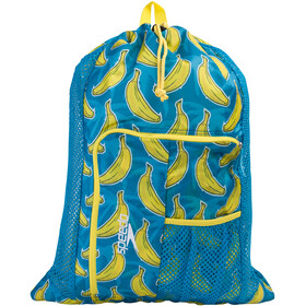 speedo Deluxe Ventilator Bolsa de red L, blue/yellow print